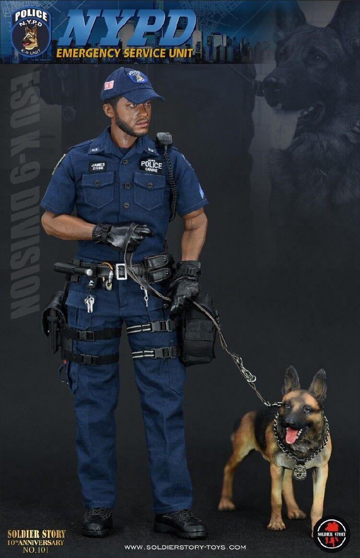 16  Soldier storia SS101 NYPD ESU K9 poliziauomo e polizia Dog cifra in stock