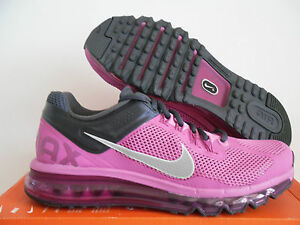 WOMEN NIKE AIR MAX + 2013 CLUB PINK-REFLECTIVE SILVER SZ 10 [555363-603]