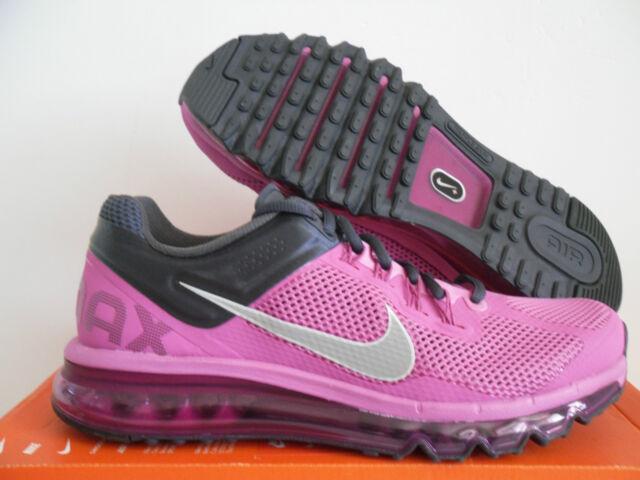 WMNS Nike Air Max 2013 Club Pink reflective Silver Sz 6 555363 603