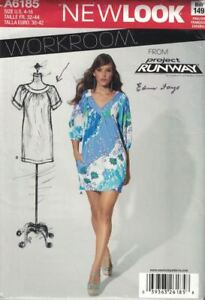 New-Look-6185-Workroom-Project-Runway-Misses-Pullover-Dress-Size-4-16