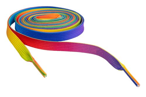 RAINBOW PREMIUM TIE DYE SHOELACES COLORFUL LACES FOR ALL SHOES BUY 2 GET 1 FREE