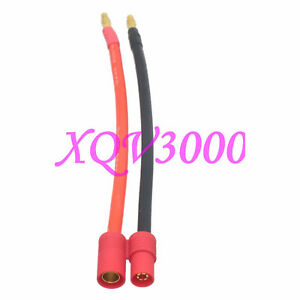 HXT 6MM Bullet Female to 4mm Banana plug Charging Battery Connector 12AWG 15CM