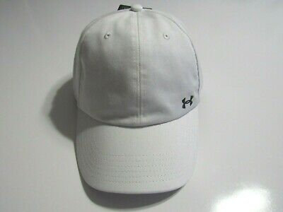 New Black Under Armour Favorite Logo Women/'s Hat White