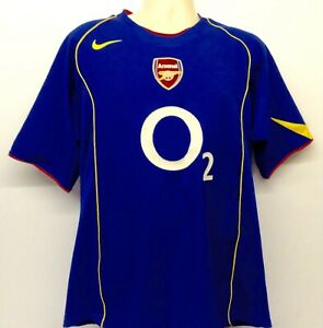 cc95072ae Image is loading Arsenal-2004-2005-Away-Football-Shirt-Size-L-