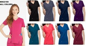 Dickies Xtreme Stretch Scrubs Top 82851 All Sizes Chz Colors Free Shipping NWT