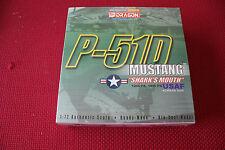 Dragon Warbird USAF P-51 Mustang 12th FS, 18th FG Shark Mouth Diecas Model 1:72