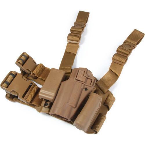 Tactical Left Hand Drop Leg Thigh Pistol Holster for GLOCK M1911 M92 P226 G17