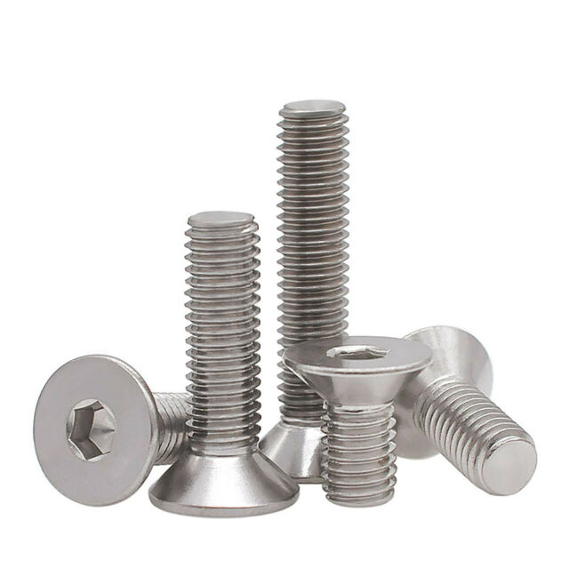Pack of 6 Red Anodised Aluminium Bolts M6 x 40mm Alloy Screw Bolt