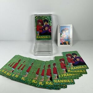 Japanese Manga RANMA 1/2 Deck Playing Cards Character Cards Sealed Set Of 2