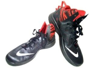 3219442a8352 Nike Zoom Hyperfuse 2013 Men s 12 Black Red Basketball 615896-001 ...