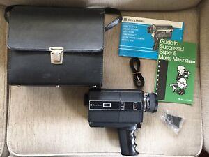 Bell-amp-Howell-Director-Series-FILMOSONIC-Model-1224-Super-8-Video-Camera-amp-Case