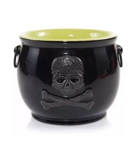 Yankee-Candle-Raven-Night-SKULL-CAULDRON-Jar-Candle-Holder-Candy-Dish-SOLD-OUT