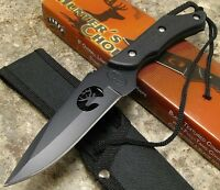Frost Hunters Choice Black Full Tang Fixed Blade Skinning Knife Whitetail Deer