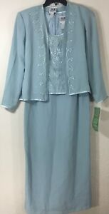 R-amp-M-Richard-2-Piece-Blue-Dress-amp-Jacket-Set-Women-039-s-Mother-of-the-Bride-8-NWT