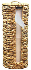 Details About New Wicker Water Hyacinth Tall Toilet Tissue Paper Holder For 4 Wide Rolls
