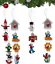 48-dettaglio-Alto-in-Legno-Albero-di-Natale-Appeso-Decorazioni-Angeli-Campane-Pupazzo-di-Neve miniatura 3
