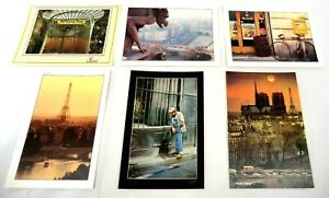 Paris-France-Postcards-Art-Cards-1980-039-s-6-75-034-X-4-75-034-Lot-of-6-Free-Shipping