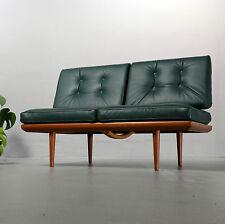 2-Sitzer-Sofa, Minerva, Peter Hvidt & Orla Molgaard, France & Son Leder und Teak