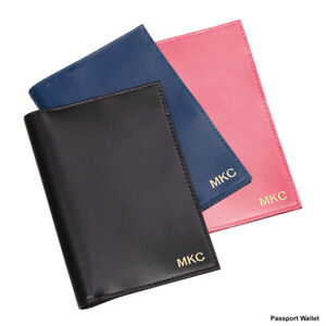 5ad9bfd8b8f3 Details about Personalised Genuine Leather RFID Passport Travel Wallet -  Free Luggage Tag