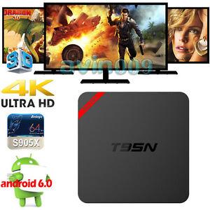 Lot T95N S905X 4K Android 6.0 Smart Wifi TV BOX Quad Core+Keyboard