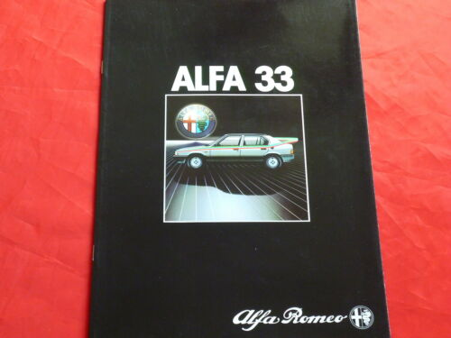 ALFA ROMEO 33 1.3 1.5 1.5 QUADRIFOGLIO VERDE PROSPEKT BROCHURE DEPLIANT di 1983
