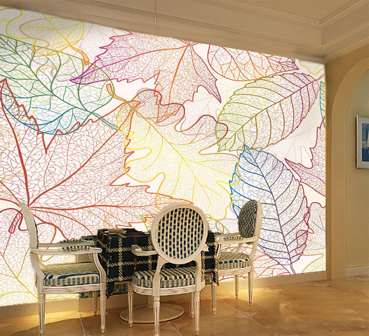 3D Anders geformten Blätter 2 Fototapeten Wandbild Fototapete BildTapete Familie