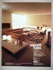 Image Is Loading Saporiti Italia Furniture PRINT AD 1980  Missoni Campaniello