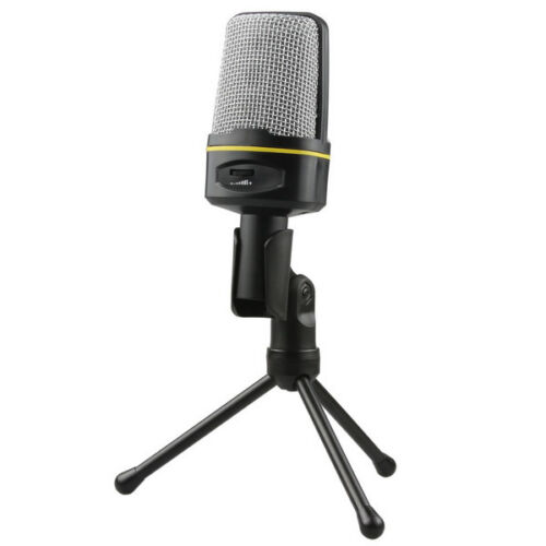 SF-920 Studio Condenser Microphone Mic Sound Recording Stand for Laptop PC Skype