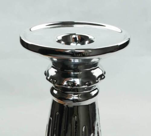 Chandelier argent pour stabkerzen Céramique Forme Classique Shabby hauteur 20 cm