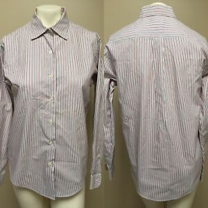 83f69744bd2c1 NWOT BROOKS BROTHERS 346 Women s Black Red White Striped Non Iron ...