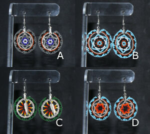 Wedding-Basket-Earrings-by-Shirley-Nelson-Navajo-Many-colors-Quantity-Discount