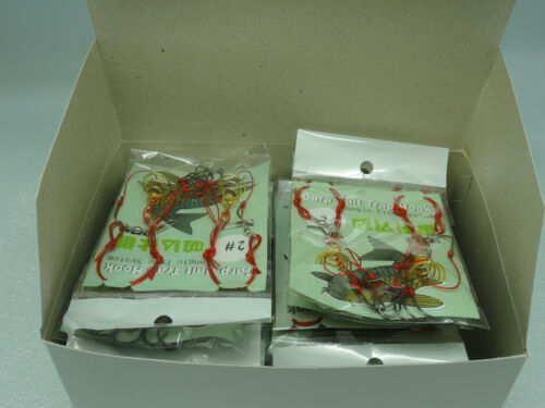 FREE SHIP Size #2 CARP FISHING POWDER BAIT TRAP HOOK SYSTEM one BOX//40rigs U.S