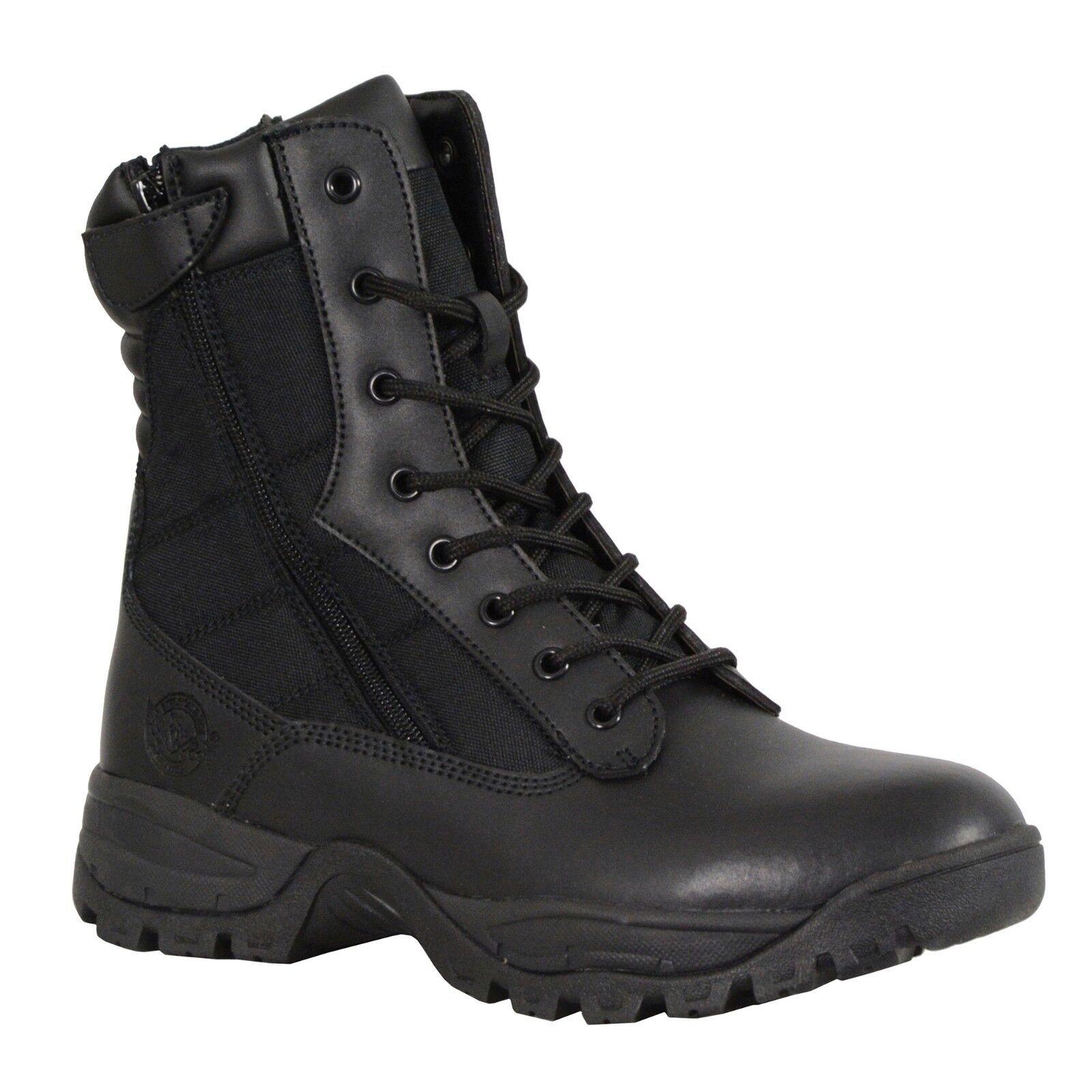 Milwaukee Performance Men's 9  Leather Tactical Boot w  Side Zipper MBM9110 BLK