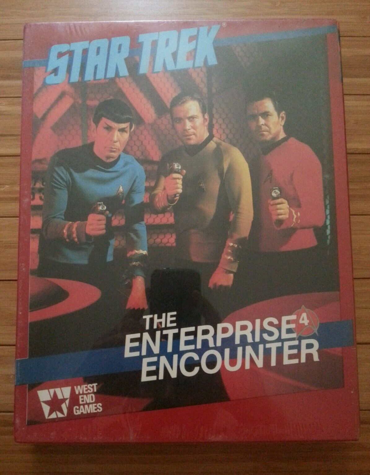 Star Trek, The Enterprise Encounter, W.E. Games, 1985 rarità in shrink