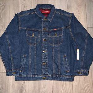 NWT-Men-039-s-Wrangler-Outerwear-Flannel-Lined-Jean-Jacket-Coat-XXL