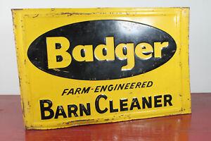 50er-Werbung-Blechschild-Badger-Barn-Cleaner-Reklame-Schild-Werbeschild-USA-60er