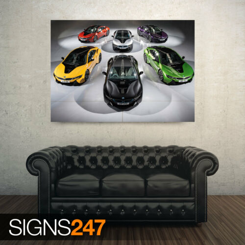 Photo Picture Poster Print Art A0 A1 A2 A3 A4 BMW I8 INDIVIDUAL PAINT 9249