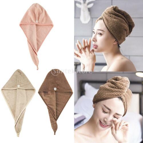 Ultra Absorbent Fast Hair Drying Towel Twist Turban Shower Bath Cap Head Cover