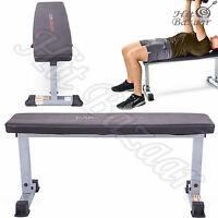 Fitness Flat Bench Weight Lifting Exercise Compact Home Gym Workout Training