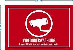 Details Zu Video überwachung Bereich Wird Videoüberwacht Aufkleber Schild Zeichen