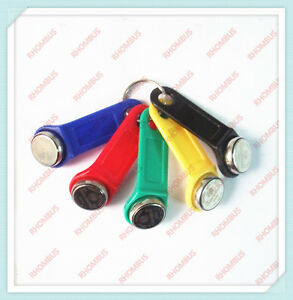 5Pcs 5 Colors DS 1990A-F5 TM Card iButton Tag wall-mounted holder