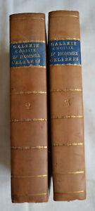 1822 Galerie Choisie d'hommes et femmes célèbres 160 portraits en 2 Tomes Cuir