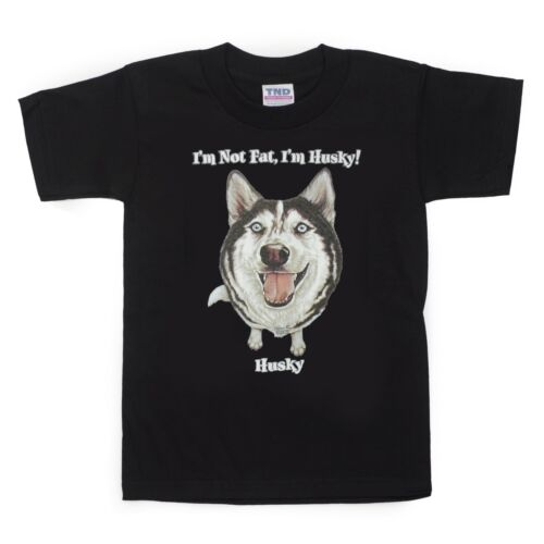 Kids Husky Dog T-Shirt Unisex Children Adult Cute Youth Junior Boys Siberian Fat