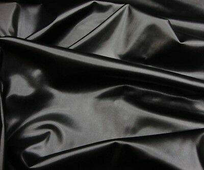"Vinyl Faux Leather Black Two Way Stretch Dance Custom Clothing 58"" wide"