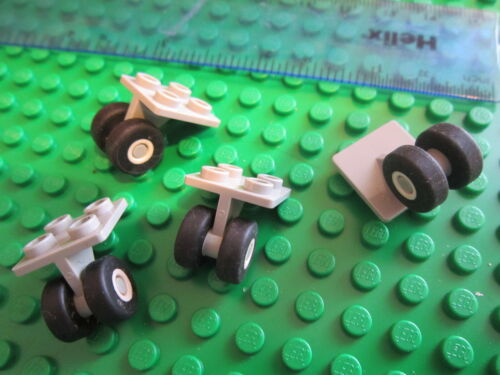 LEGO 4 Sets of Technic Aircraft Undercarriage Wheels White Space Shuttle Units