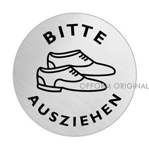 Bitte Schuhe Ausziehen ofform türschild l schild l bitte schuhe ausziehen l ø 75 mm l nr