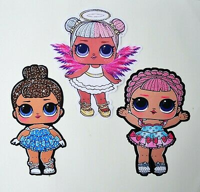 Sequin Embroidery Surprise Doll Lol Sewn On Patch Applique Badge Snow Angel Sis
