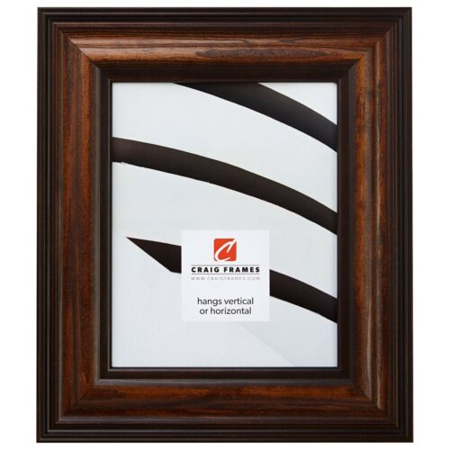 """Craig Frames Colonial Custom Sizes 2.5/"""" Walnut Brown Wood Picture Frame"""