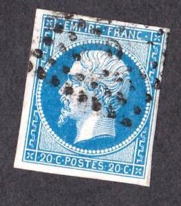 EMPIRE-N-14-A-oblitere-034-D-034-Bureau-de-quartiers-de-Paris