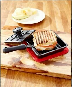 Cast Iron Panini Press Durable Sandwich Maker Easy To Use